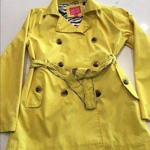Girls raincoat- yellow trench coat